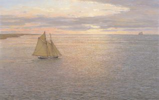 Heading Home, Gloucester Fishing Schooner 1920